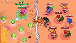 MAX GENE VS 0 TROPHY NOOBS :: Trolling Noobs   Brawl Stars Funny Gameplay