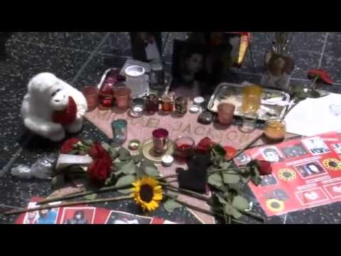 Fans adorn Michael Jackson's Hollywood star  five years on