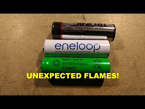 What's Inside Eneloop And LIDL NiMh Cells (fire, Apparently)