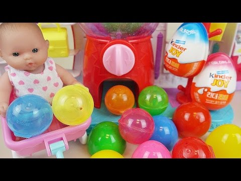 Thumbnail: Baby Doll Shopkins dispenser and Kinder Joy Surprise eggs toys