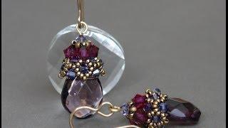 Sidonia's handmade jewelry - Beaded cap earrings