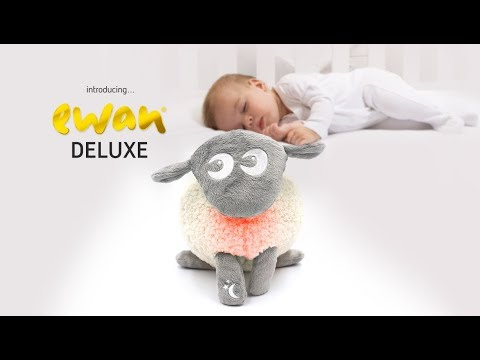 ewan the dream sheep Deluxe | the ultimate washable baby sleep soother with cry sensor