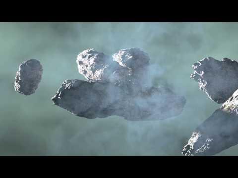 asteroid field creation movie short animation