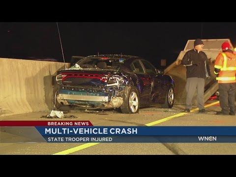 NC Trooper among victims in 5-vehicle I-40 crash