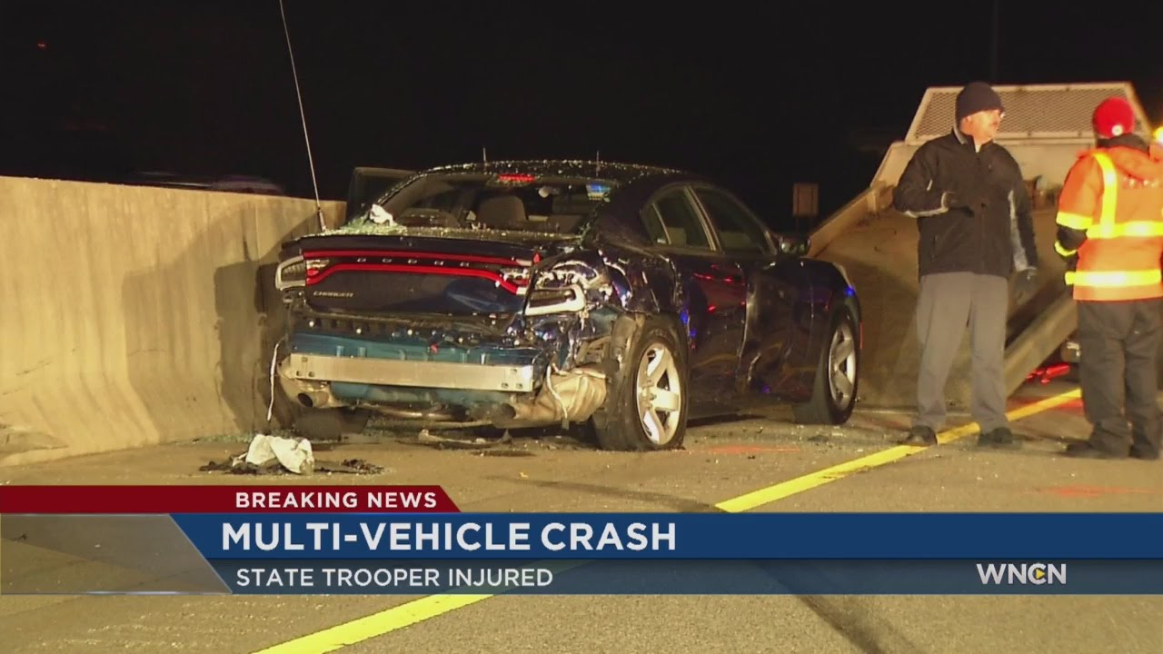 NC Trooper among victims in 5-vehicle I-40 crash
