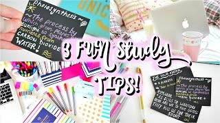 FUN STUDY TIPS FOR EXAMS! 3 Fun, Simple REVISION HACKS 2016