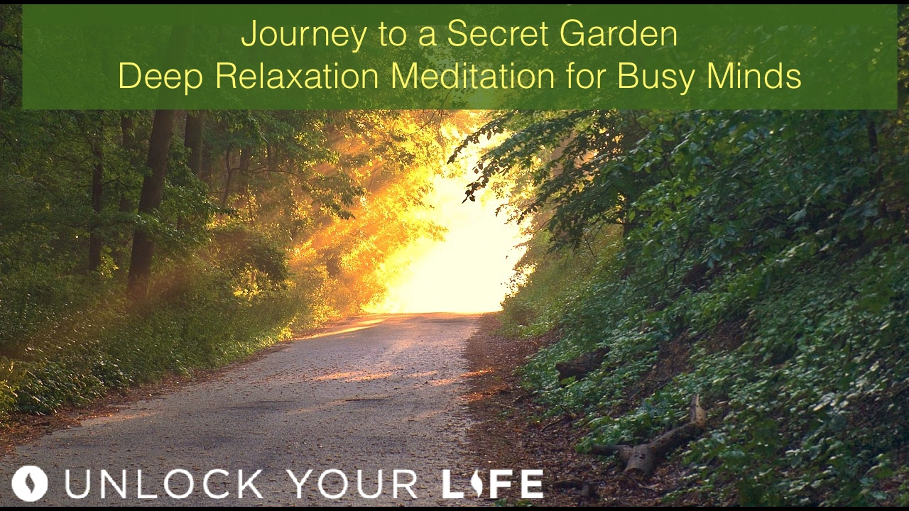 Hypnosis For Sleep | Meditation For Anxious, Stressed, Busy People |  Journey To A Secret Garden