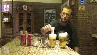 Teste cerveja sem espuma.