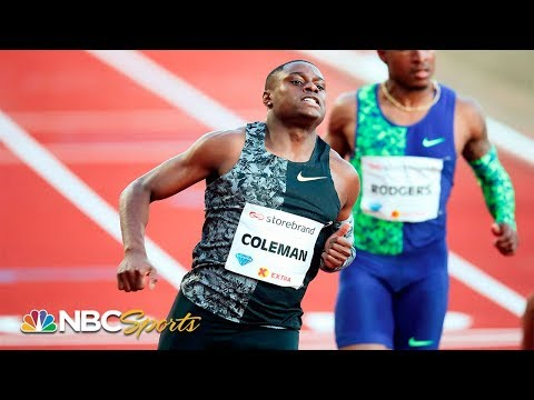 Christian Coleman Sprints To Fastest 100m Time Of 2019   NBC Sports