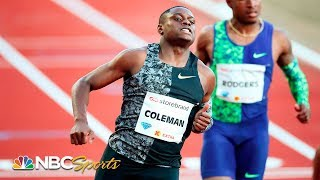 Christian Coleman Sprints to Fastest 100m Time of 2019 | NBC Sports