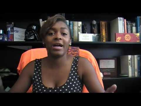 Ashley Davis is a dynamo spokeswoman for VSU.