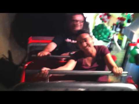 Thunder Mountain Roller Coaster Onride POV Antics Land Sharjah United Arab Emirates