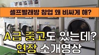 셀프빨래방 창업 왜 비싸게해?? 중고세탁장비 소개영상
