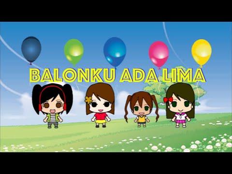 Balonku Ada Lima - Lagu Anak-Anak Indonesia Karaoke