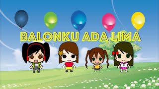 vuclip Balonku Ada Lima - Lagu Anak-Anak Indonesia Karaoke