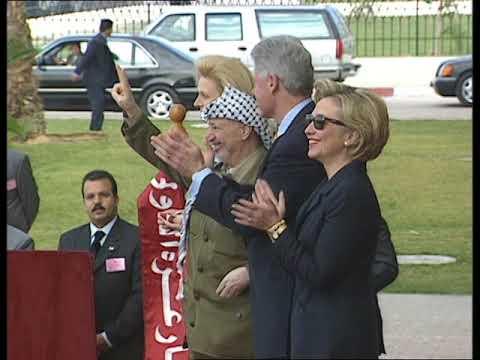 Pres. Clinton and Chairman Arafat at Gaza Airport (1998)(FOIA 2017-0234-F)