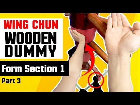 Wing Chun Wooden Dummy Training Form Section 1 - Part 3