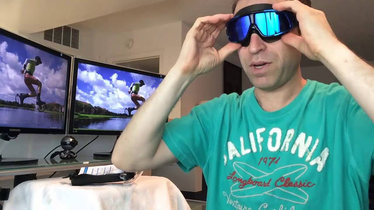 How to wear swimming goggles youtube