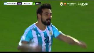 argentina vs brazil today match highlights 1-1