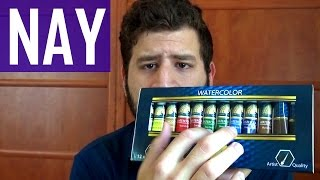 MyArtscape Watercolor 12 Tubes Set - Updated Review (Nay!)