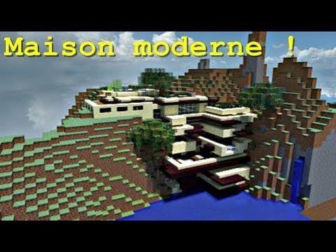 Minecraft maison moderne dans la falaise youtube for Maison moderne dans minecraft