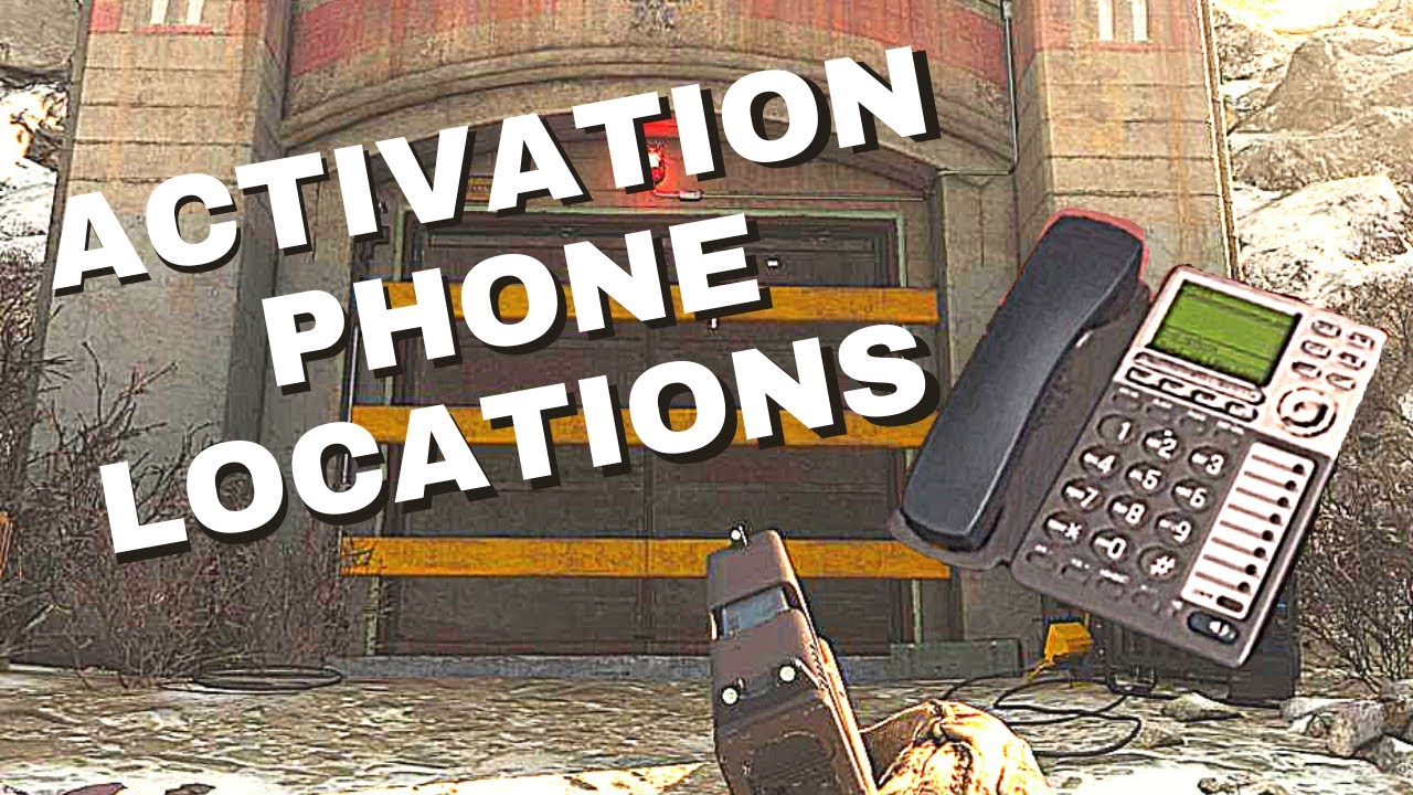 Activation/Numbered Phone Locations in Warzone for Bunker 11