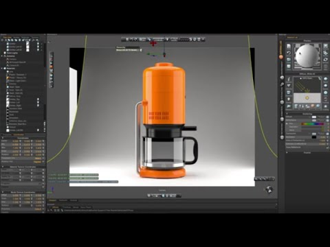 Fusion 360 and Thea Render: Braun KS 20 Coffee Maker