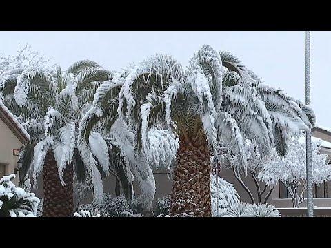 euronews (en español): Nieve en Las Vegas por primera vez en 10 años