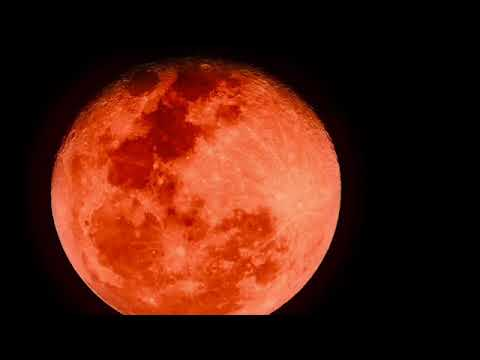 Super Rare Blue Blood Moon January 31st  2018.HD Video From California