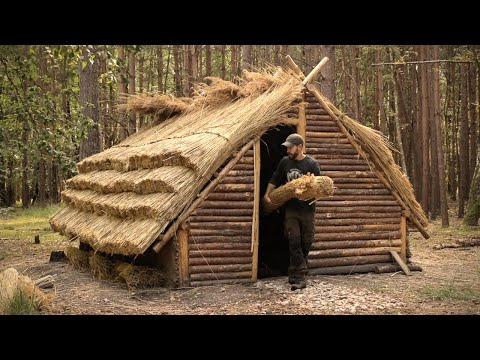 Building a Medieval House | 10 Day Bushcraft Shelter Build