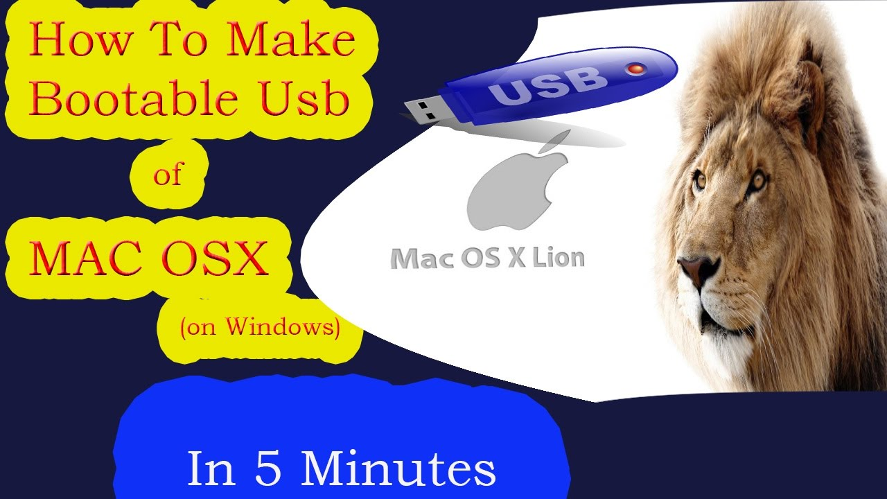make a bootable usb for mac using windows
