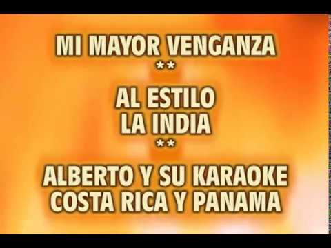 mi mayor venganza karaoke la india