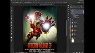 Photoshop Tutorial Making of Iron man Movie Poster