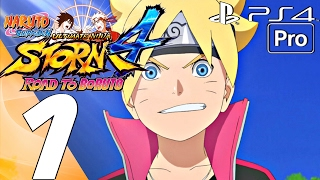 Naruto Shippuden Ultimate Ninja Storm 4 Road To Boruto - Walkthrough Part 1 FULL GAME (PS4 PRO) DLC