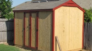 Off Grid Prepper Storage Shed/workshop Construction Part 5 - The Final Result