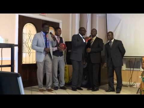 Disciples at NEGSDA Youth Church singing Yesu Reba