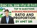 3 topics|1 hour |Top 15 Questions | Ratio & Proportion, Average & Percentage
