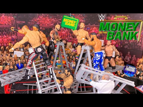 WWE MONEY IN THE BANK ACTION FIGURE LADDER MATCH! 2019!