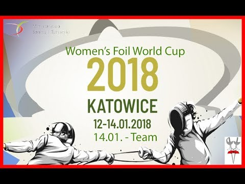 2018 Women's Foil Team World Cup Katowice Piste Red