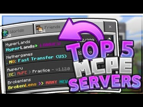 Top 5 Best MCPE Servers 2020 (1 16 ) Minecraft PE (Pocket