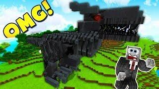 ĐIỀU GÌ SẼ XẢY RA KHI PHẢI SỐNG CHUNG VỚI NGƯỜI MÁY KHỦNG LONG CỔ ĐẠI TRONG MCPE | Minecraft PE 1.2