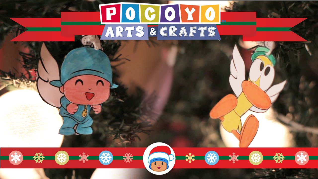 Youtube Art And Craft: Pocoyo Arts & Crafts: Adornos Navideños [EP 7]