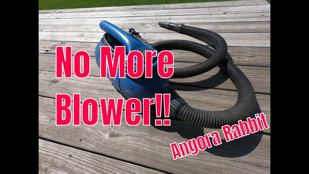 Why we don't use a blower for angora rabbits