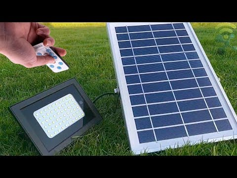UPONUN Solar Flood Lights Outdoor Review ✔️ Waterproof IP67 60LED Remote Control,