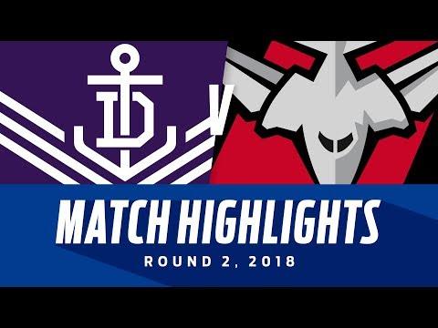 Match Highlights: Fremantle v Essendon | Round 2, 2018 | AFL