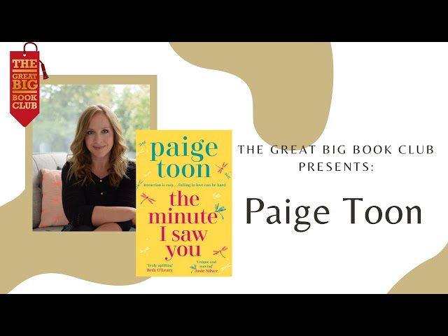 Weekly Book Cast: Paige Toon on 'The Minute I Saw You'