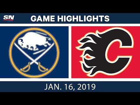 NHL Highlights | Sabres vs. Flames - Jan. 16, 2019