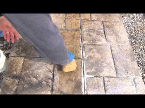 Invisible Crack Repair?  Fix-A-Crack™ Stamped Concrete Crack Repair