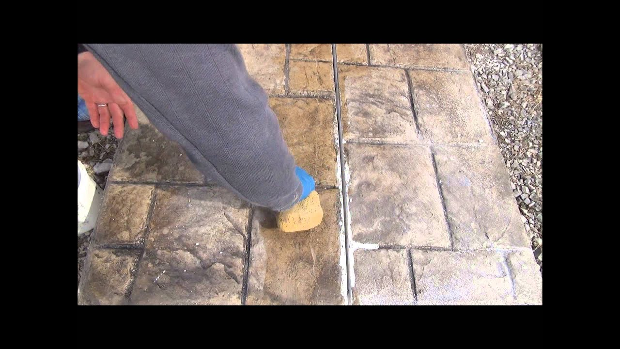 Invisible Crack Repair? Fix-A-Crack™ Stamped Concrete Crack Repair ...