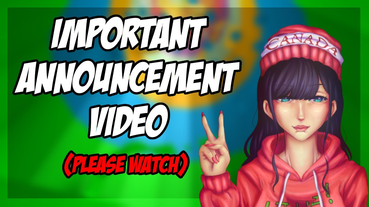 Important Announcement *PLEASE WATCH* | (ROBLOX)